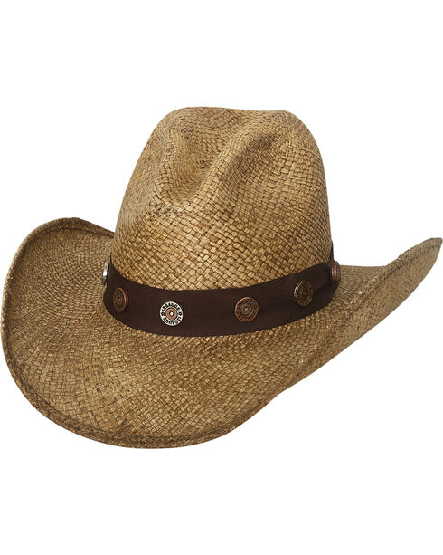 Bullhide Men's Road Agent Panama Straw Cowboy Hat, Natural, hi-res