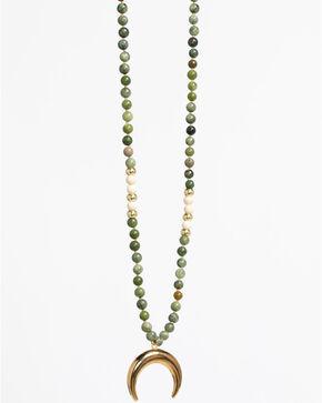 Everlasting Joy Women's Golden Heart Necklace, Green, hi-res