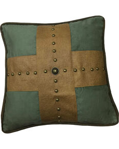 HiEnd Accents Las Cruces II Studded Cross Pillow, Multi, hi-res