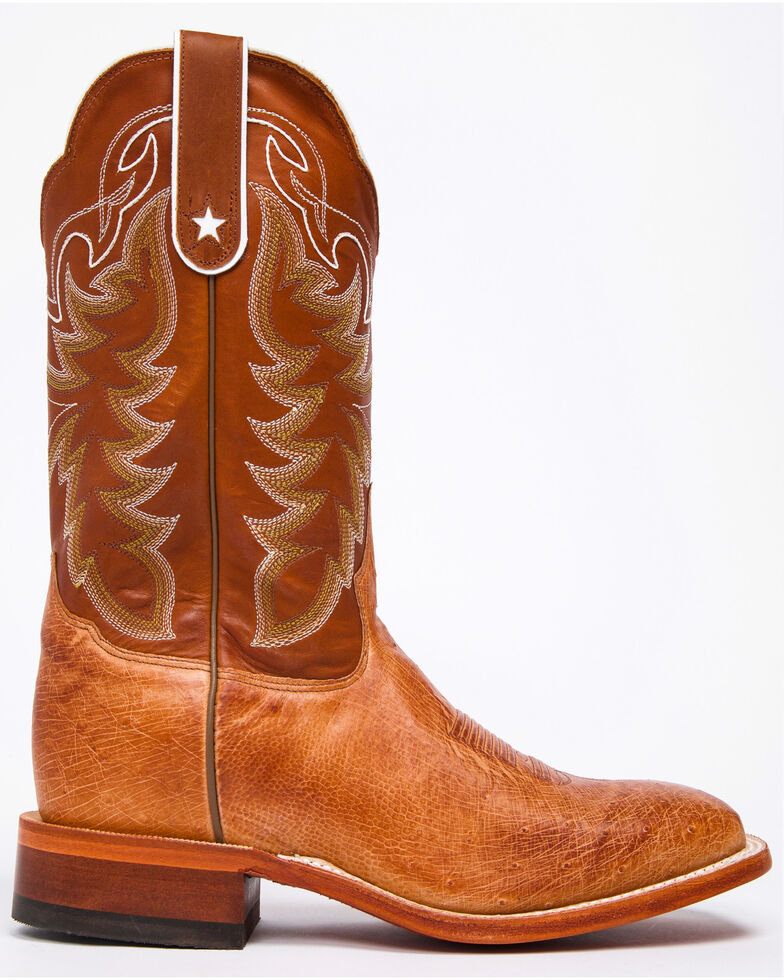 f3ee8d46346 Tony Lama San Saba Vintage Smooth Quill Ostrich Cowboy Boots - Square Toe