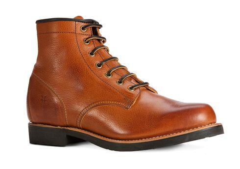 Frye Men's Arkansas Mid Lace Boots - Round Toe, Cognac, hi-res
