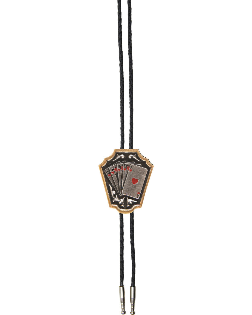AndWest Men's Royal Flush Bolo Tie, Multi, hi-res