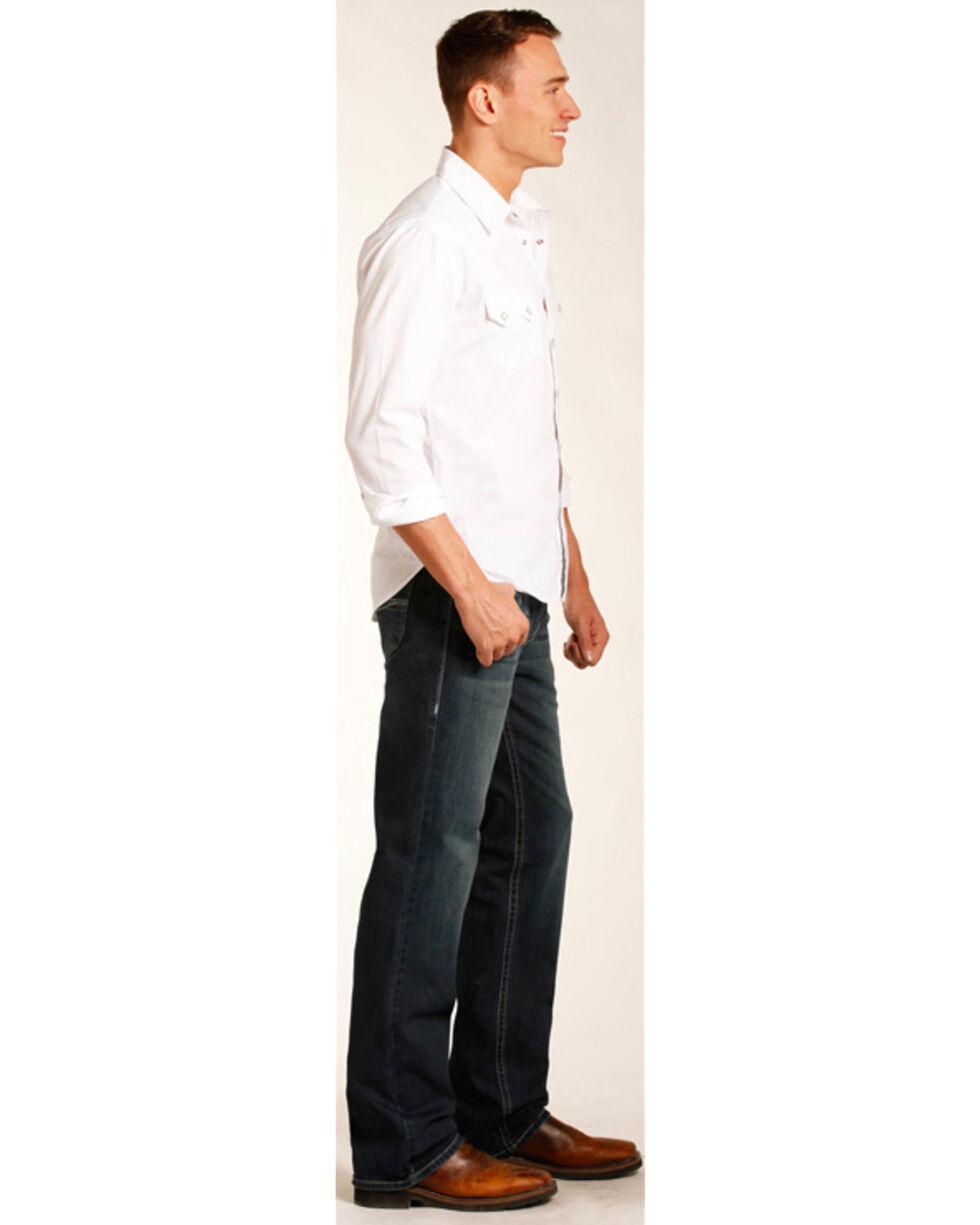 Rock & Roll Cowboy Men's Raised Denim Reflex Double Barrel Jeans -  Straight Leg, Indigo, hi-res