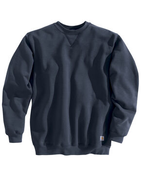 Carhartt Midweight Crew Neck Sweatshirt - Big & Tall, Navy, hi-res