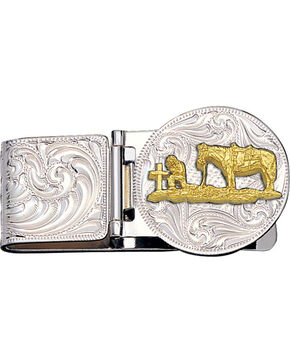 Montana Silversmiths Christian Cowboy Hinged Money Clip, Silver, hi-res