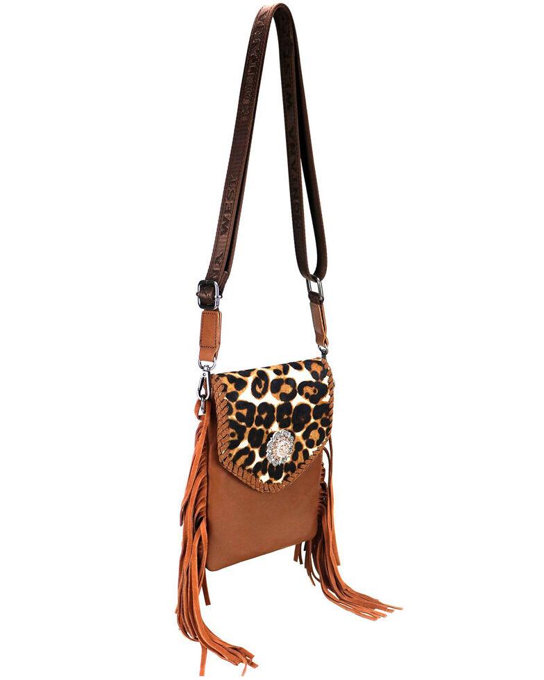 Montana West Women's Leopard Crossbody Bag, Brown, hi-res