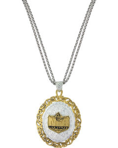 Montana Silversmiths 2015 WNFR Two-Tone Portrait Necklace, Silver, hi-res