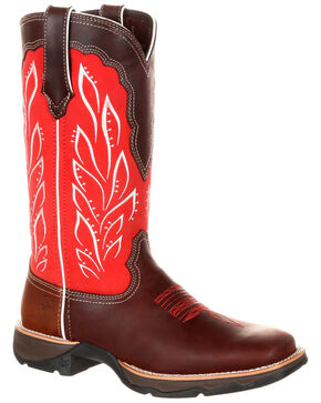 Durango Women's Lady Rebel Strawberry Sunrise Western Boots - Square Toe, Multi, hi-res