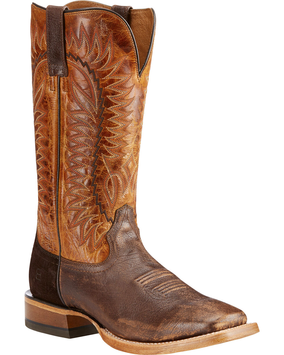 Ariat Men's Tan Elite Tough Western Boots - Square Toe , Tan, hi-res