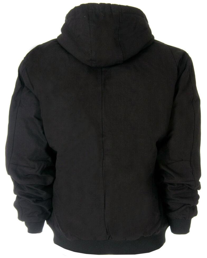 Berne Men's Duck Original Hooded Jacket - 3XL and 4XL, Black, hi-res
