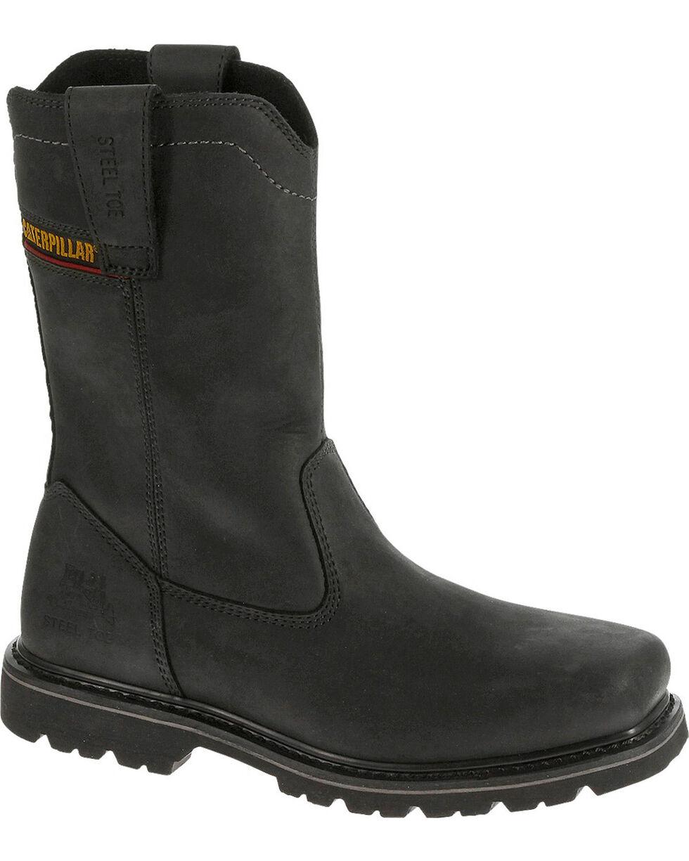 Caterpillar Men's Black Wellston Work Boots - Steel Toe , , hi-res