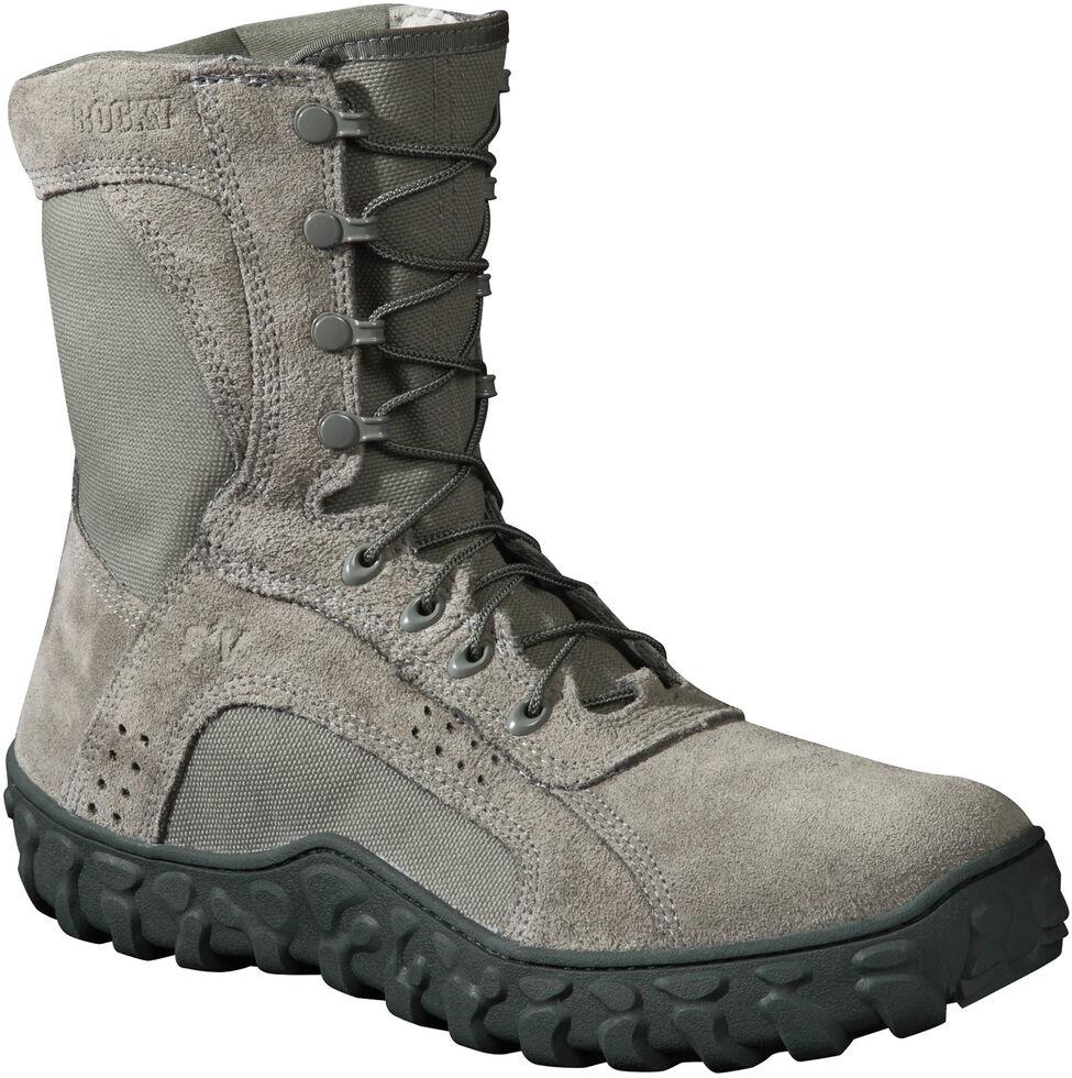 Rocky S2V Tactical Military Boots - Steel Toe, Grey, hi-res