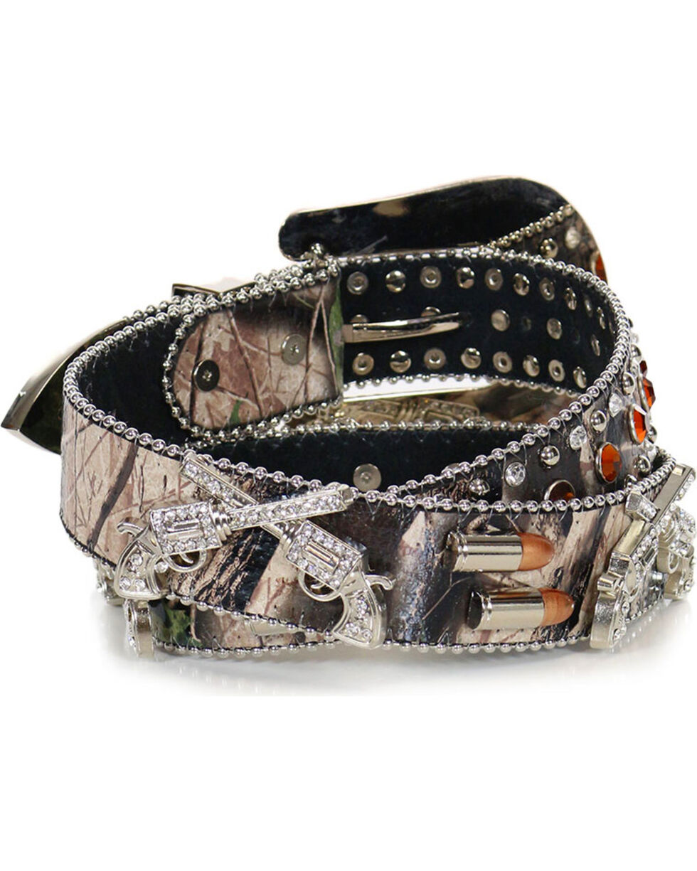 Angle Ranch Women's Sharpshooter Camo Belt, Camouflage, hi-res