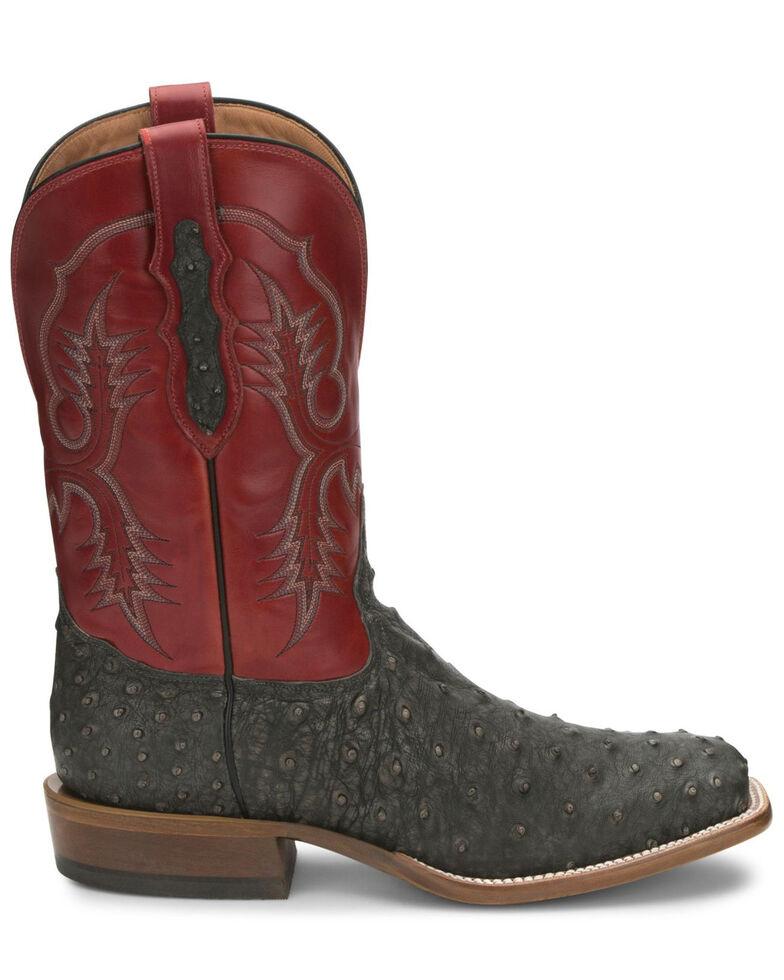 Tony Lama Men's Augustus Western Boots - Wide Square Toe, Grey, hi-res