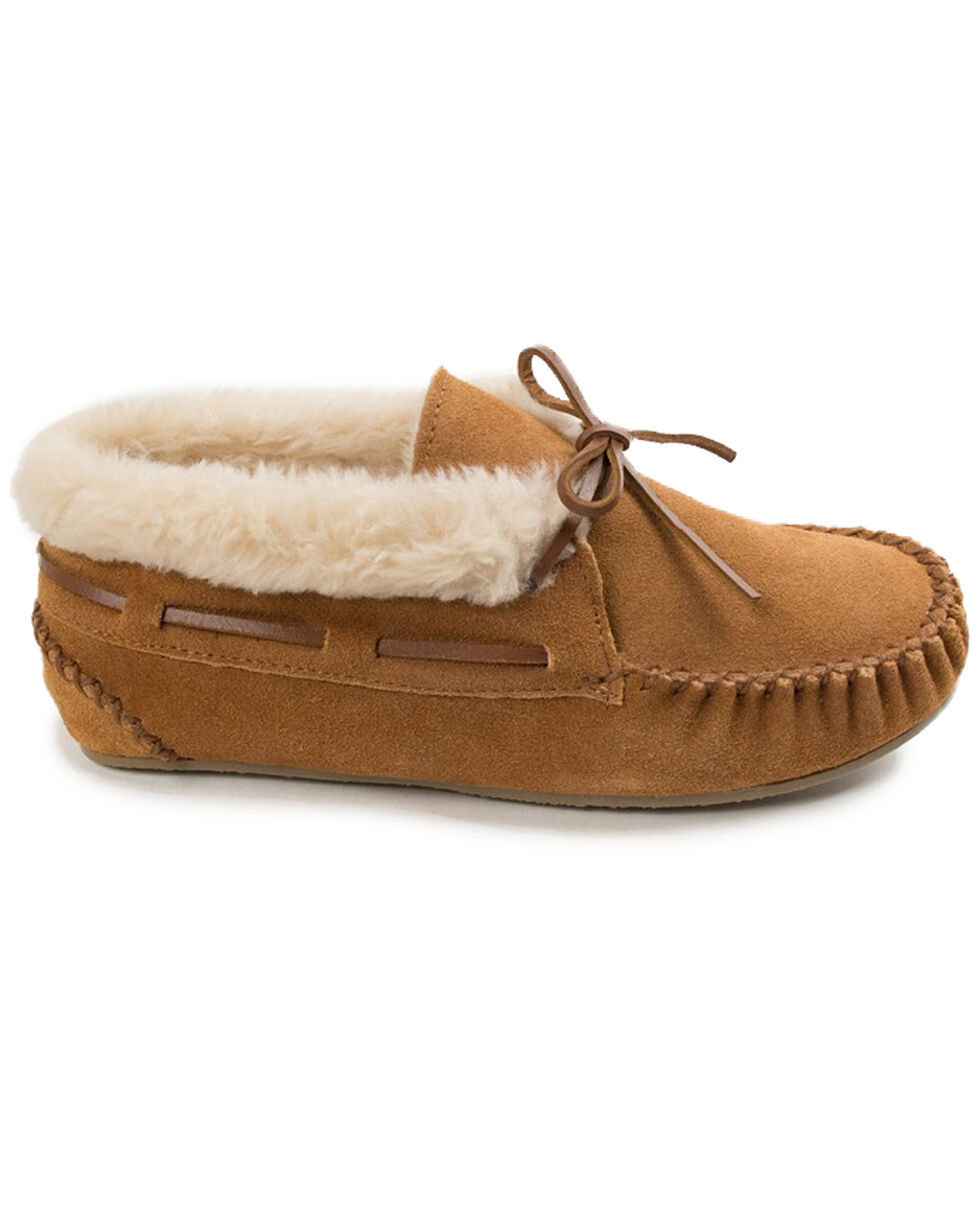 Women's Minnetonka Chrissy Bootie Moccasins, Cinnamon, hi-res