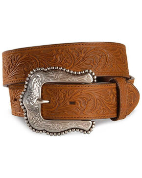 Tony Lama Brown Layla Leather Belt, Brown, hi-res
