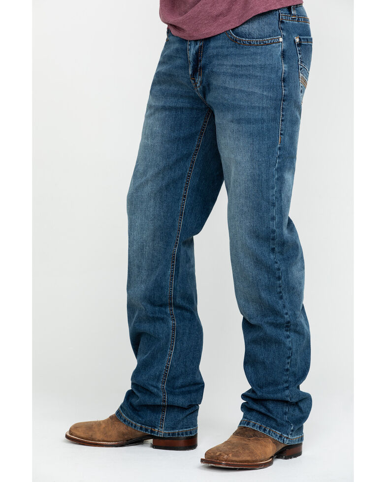 Rock & Roll Denim Men's X Stitch Double Barrel Relaxed Straight Jeans , Blue, hi-res