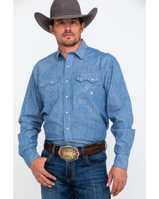 f9fae0f61610 Ariat Mens Ironhawk Retro Long Sleeve Western Shirt, Blue, hi-res
