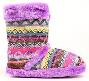 Blazin Roxx Women's Muli Color Woven Slipper Booties, Purple, hi-res