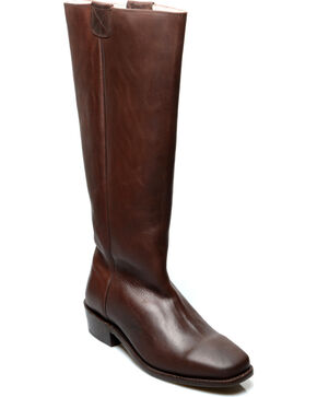 Oak Tree Farms Women's Brown Pale Rider Pull on Boots, Brown, hi-res
