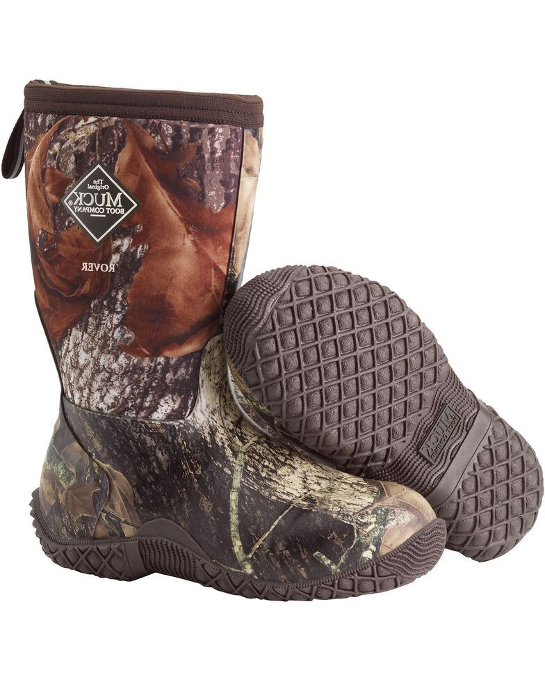 Muck Boys' Rover II Mossy Oak Outdoor Sport Boots , Camouflage, hi-res