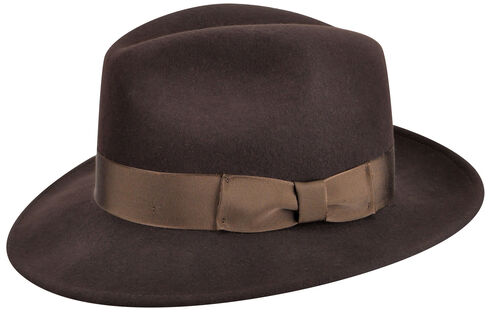 Country Gentleman Men's Brown Frederick Fedora , , hi-res