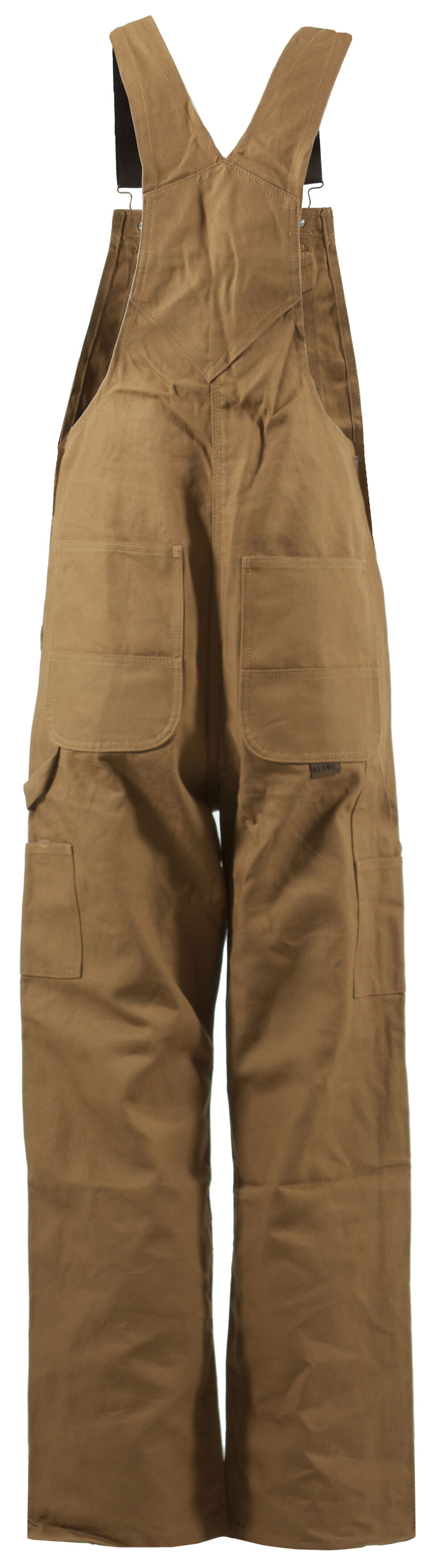 Berne Men's Original Unlined Duck Bib Overalls - Tall, Brown, hi-res