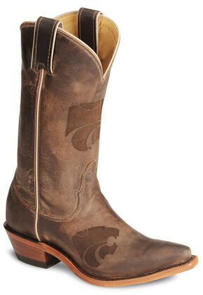 Nocona Kansas State Wildcats College Boot - Snip Toe, Tan, hi-res