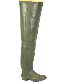 "LaCrosse Men's Marsh 32"" Wader Boots - Round Toe , Green, hi-res"