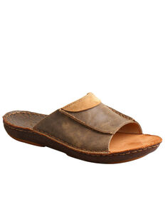 Twisted X Men's Leather Wrapped Sandals, Brown, hi-res