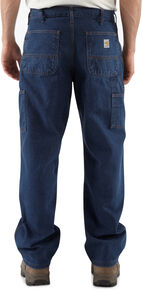 Carhartt Flame Resistant Signature Denim Dungaree Work Jeans - Big & Tall, Denim, hi-res