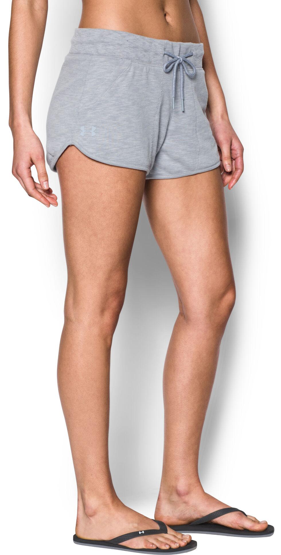 Under Armour Women's Grey Ocean Shoreline Terry Shorts, Grey, hi-res
