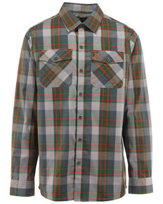 Browning Men's Powell Plaid Long Sleeve Western Shirt , Green, hi-res