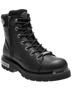 Harley Davidson Men's Chipman Moto Boots - Round Toe, Black, hi-res