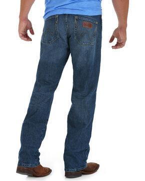 Wrangler Retro Men's Medium Wash Relaxed Fit Jeans - Straight Leg, Blue, hi-res
