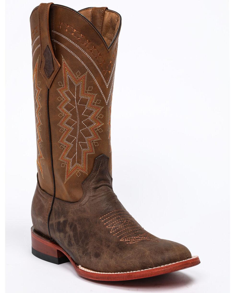 Ferrini Men's Kangaroo Western Boots - Square Toe, Chocolate, hi-res