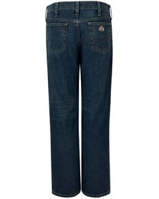 Bulwark Men's FR Stretch Straight Work Jeans , Indigo, hi-res