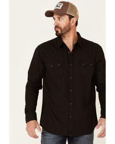 Moonshine Spirit Men's Truckee Herringbone Long Sleeve Snap Western Flannel Shirt , Brown, hi-res