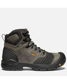 "Keen Men's Portland 6"" Waterproof Work Boots - Carbon Toe, Black, hi-res"