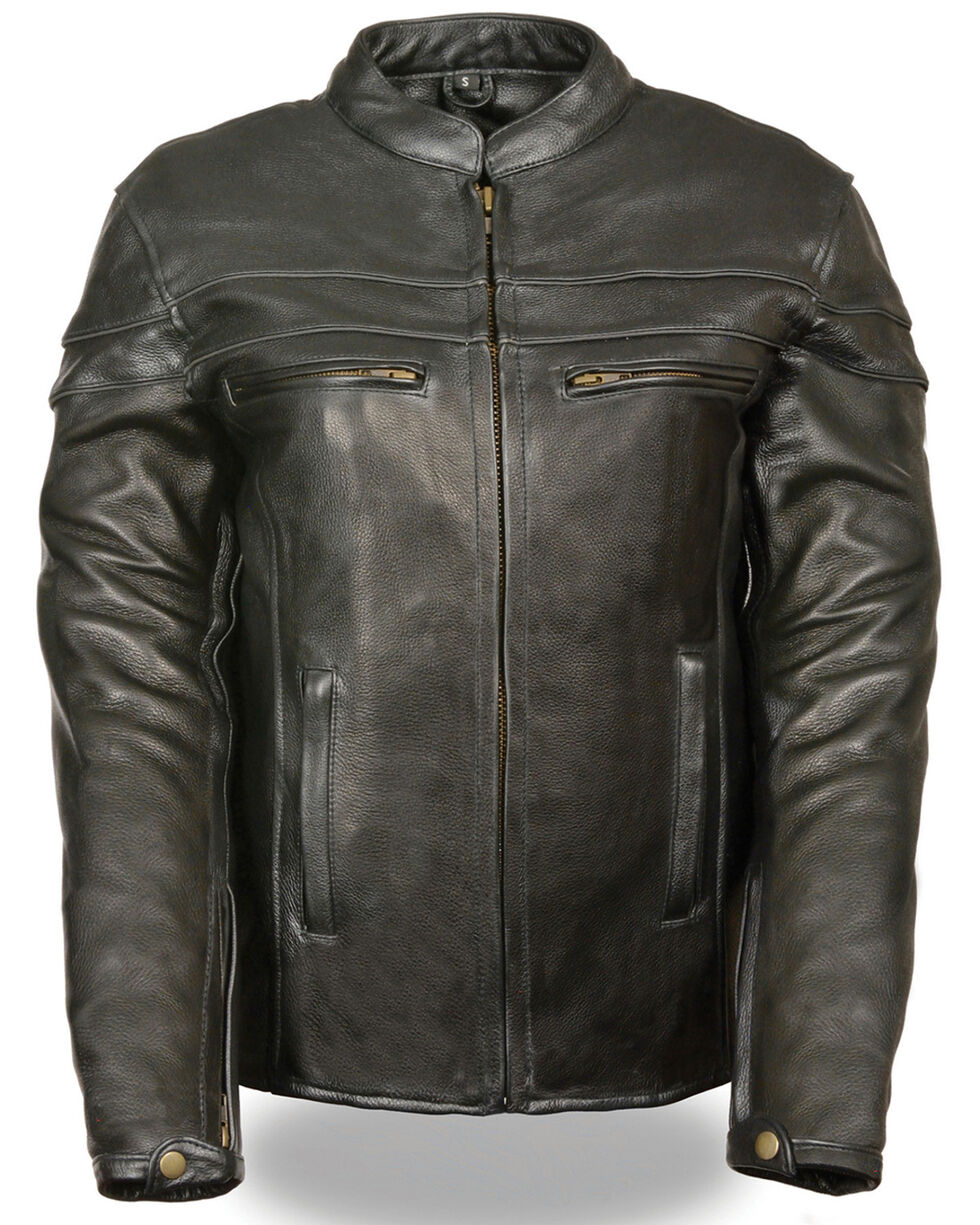 Milwaukee Leather Women's Sporty Scooter Crossover Leather Jacket - 5X, Black, hi-res