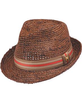 Peter Grimm Men's Kempten Fedora Hat , Brown, hi-res