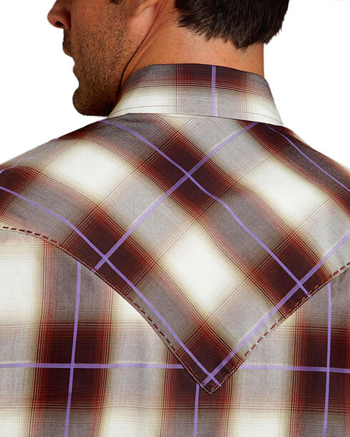 Stetson Men's Washed Plaid Long Sleeve Shirt, , hi-res