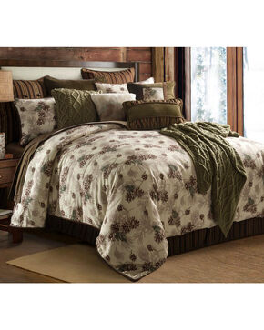 HiEnd Accents Forest Pine Twin Comforter Set, Multi, hi-res