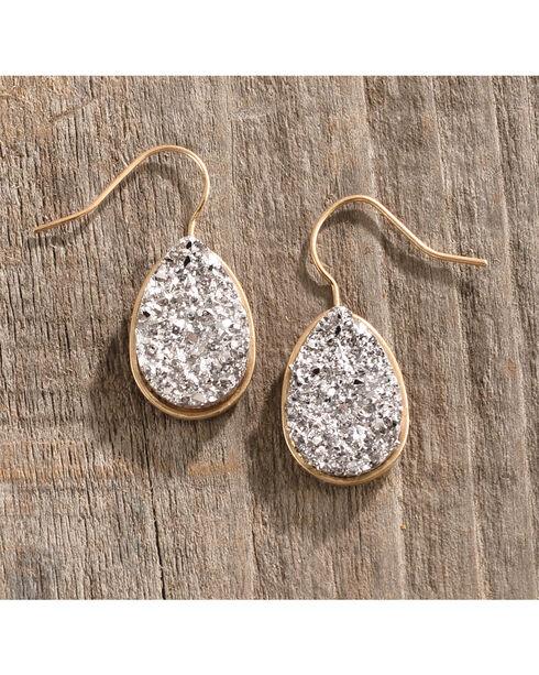 Shyanne Women's Rhinestone Teardrop Earrings, Gold, hi-res