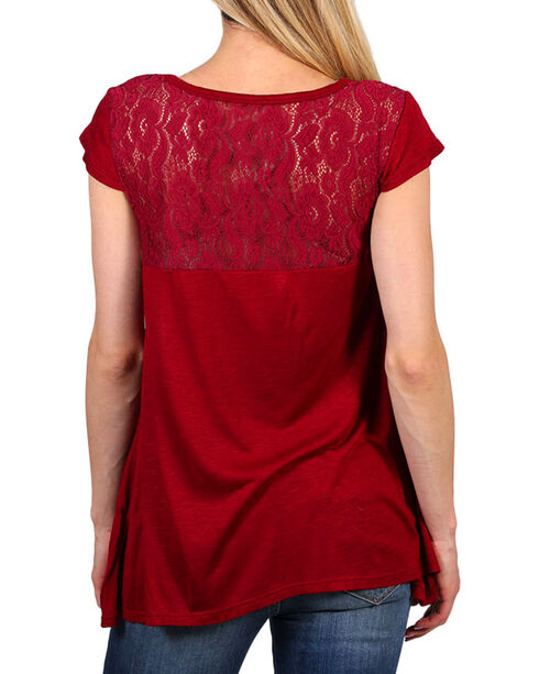 Shyanne® Women's Wild Soul Graphic Tee, Burgundy, hi-res