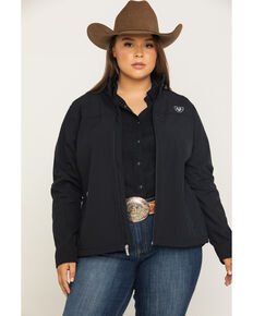 Ariat Women's Softshell Team Jacket  - Plus, Black, hi-res