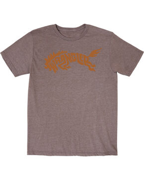 Wrangler Boys' Western Bronco Short Sleeve T-Shirt, Brown, hi-res