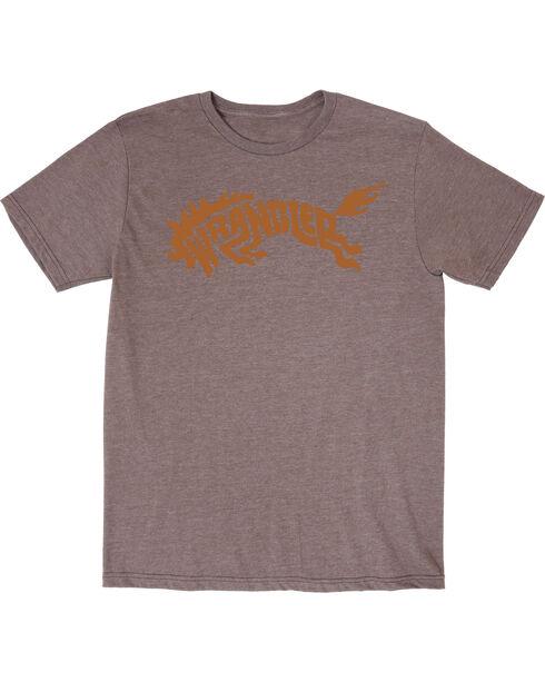 Wrangler Boys' Western Bronco Short Sleeve T-Shirt, Brown, hi-res