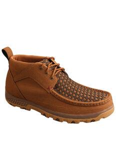 Twisted X Men's Tan Driving Shoes - Moc Toe, Tan, hi-res