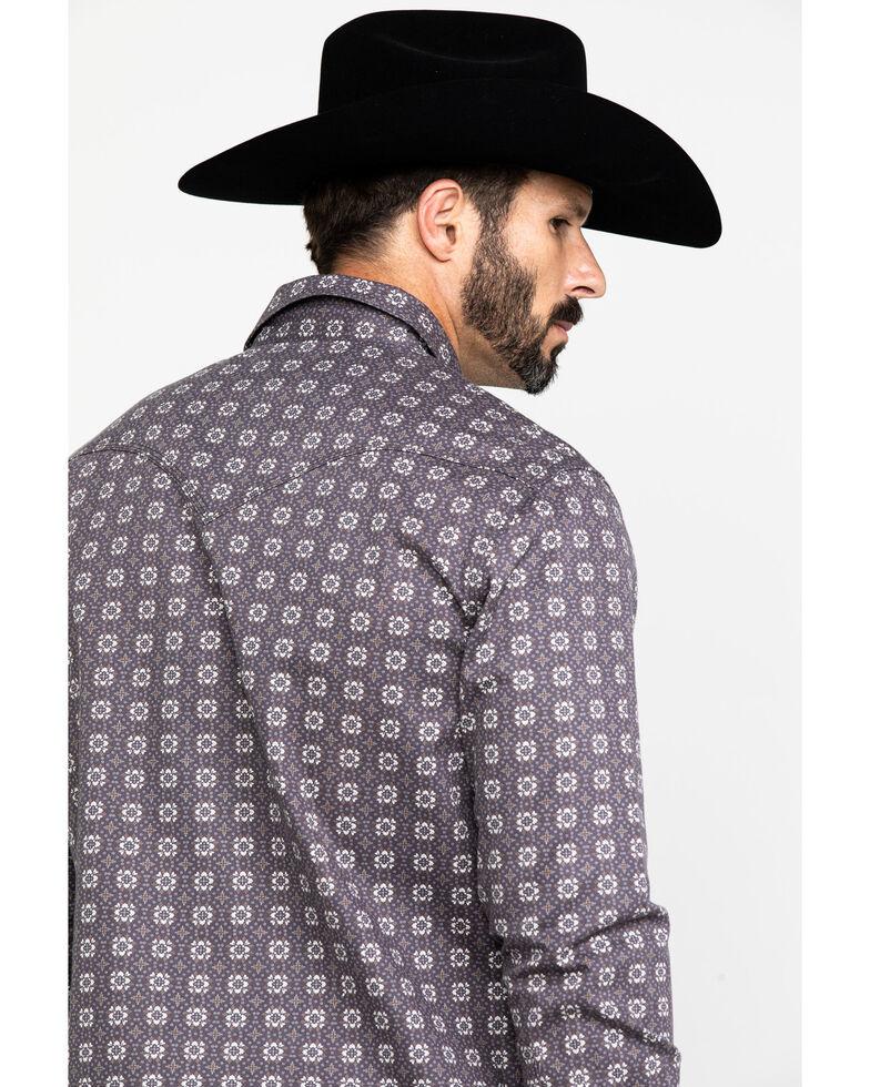 Rock & Roll Denim Men's FR Printed Floral Twill Long Sleeve Work Shirt , Charcoal, hi-res